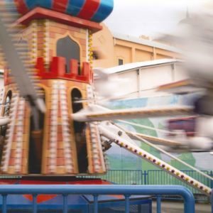 photographic artwork of lunar park.