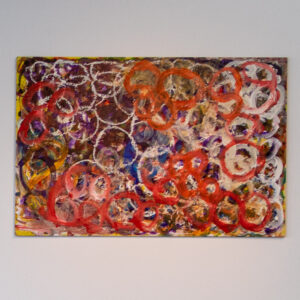 a painting made of circles