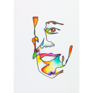 Abstract portrait of Guler