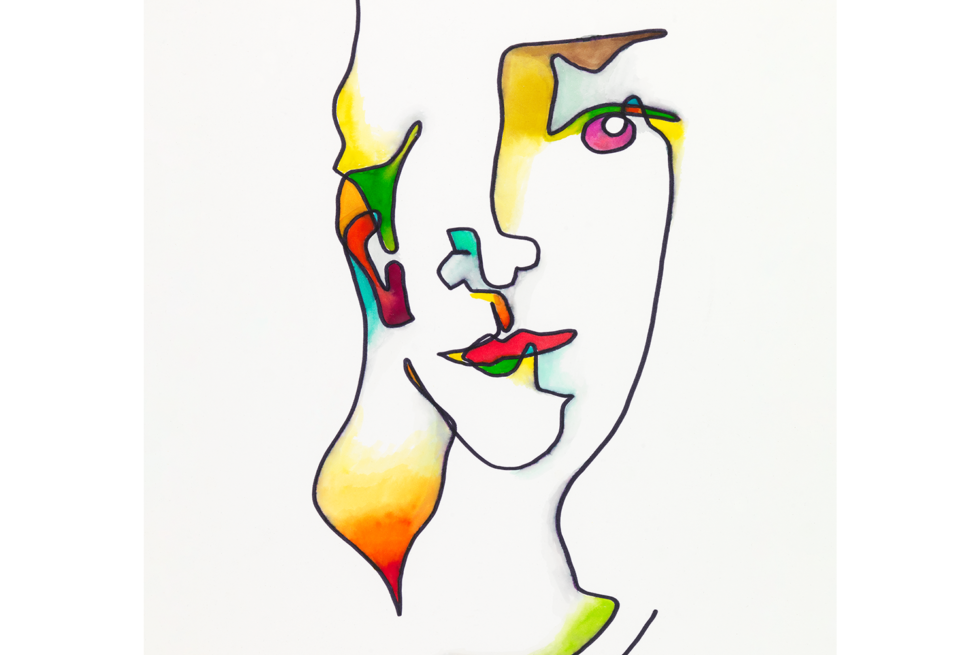 Abstract portrait of Kerry