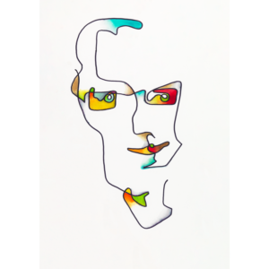 Abstract portrait of Mark